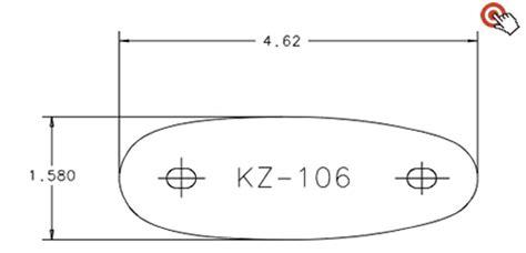 kick eez templates pre fit kz 106 recoil pad kick eez