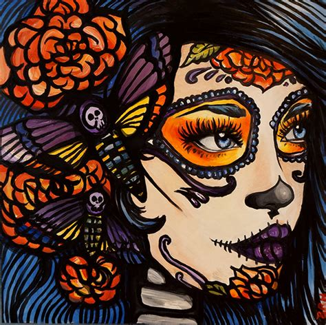Home Decor Skulls by Blue Day Of The Dead Pin Up On Behance