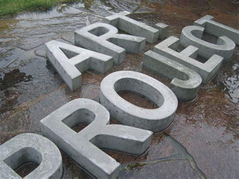 buchstaben aus beton beton buchstaben beton fabrik hausnummern zahlen und