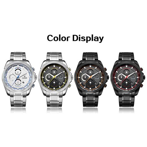 Jam Tangan Add cadisen jam tangan analog chrono pria c9051 black