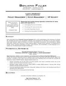 Personal Assistant Resume Exle by Personal Assistant Resume By C Coleman