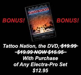 tattoo nation movie dvd 100 electra pro tattoo ink by tattoo supplies and