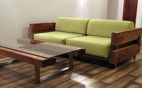 reclaimed wood couch and coffee table by ticino design www.ticinodesign.com   home by ticino