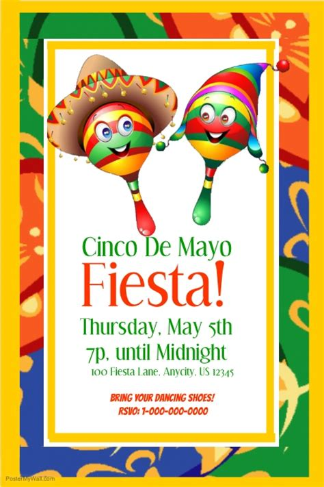 Postermywall Poster Template Cinco De Mayo Template