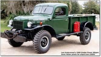 1946 dodge power wagon vintage automobiles trucks