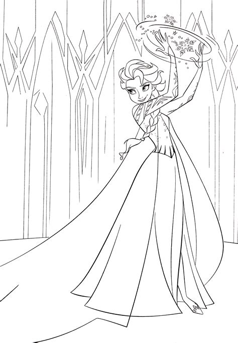 coloring pages of queen elsa from frozen walt disney characters images walt disney coloring pages