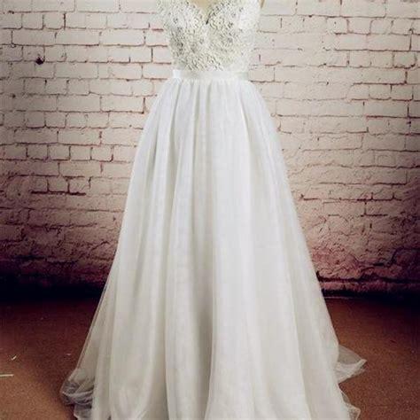 Brautkleid Mittellang by Real Made V Neck Lace Wedding Dresses Wedding Dresses