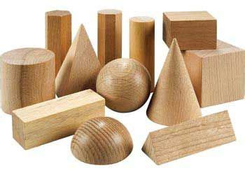 3d Wooden Shape wooden geometric solids 12 pieces umc math