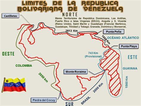 los limites de la territorio 191 cu 225 les son los l 237 mites de la rep 250 blica bolivariana de venezuela