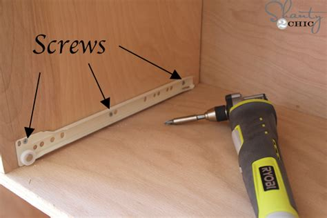 How Do You Install Drawer Slides by How To Install Drawer Slides Shanty 2 Chic