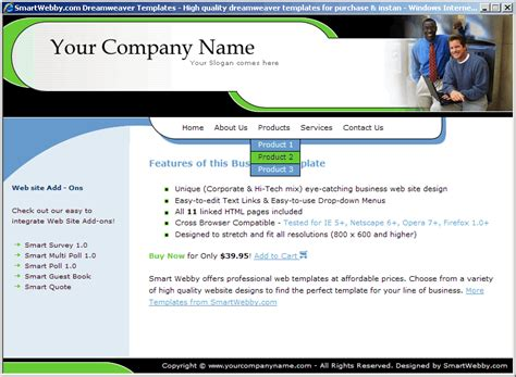 simple web templates for asp net simple business template