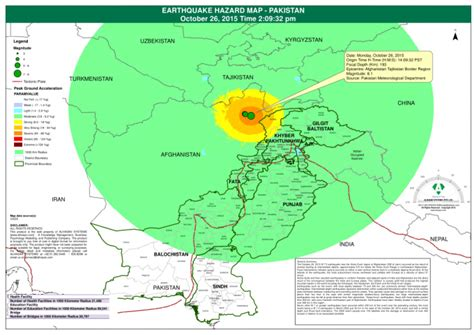mobile zone pakistan earthquake hazard map pakistan october 26 2015 time 2