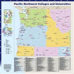map of colleges in oregon hedberg maps inc custom college city regional and