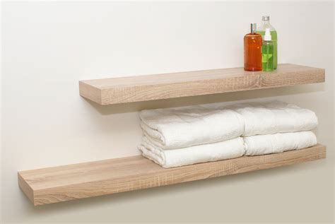 oak floating shelf kit 1150x250x50mm mastershelf