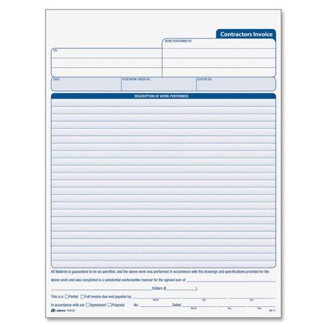 contractor receipt book template printer