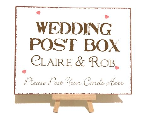cards sign for wedding card box template personalised vintage wedding post box sign personalised