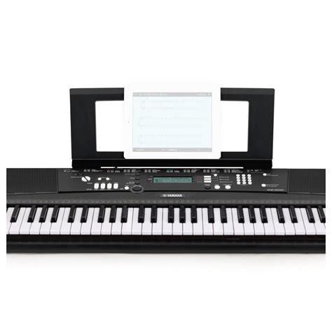 yamaha keyboard stand and bench yamaha ez220 keylighting keyboard with stand headphones
