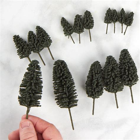 miniature artificial cedar trees fairy garden miniatures