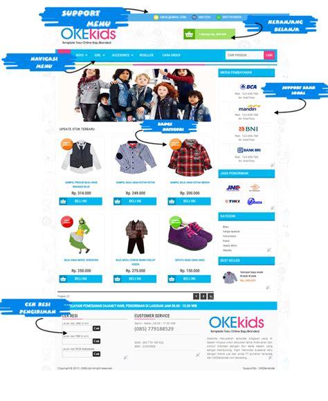 template toko online versi mobile berkah template template toko online keren okekids