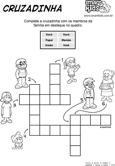 Atividade Família Cruzadinha - Atividades - Smartkids
