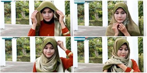 tutorial hijab syar i tetap modis fashion tutorial hijab segi empat praktis namun tetap