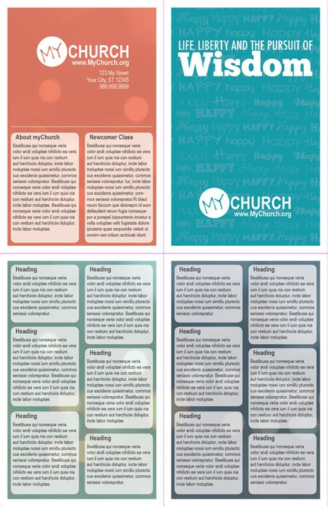 worship bulletin template 5 5 in x 8 5 in bi fold worship guide bulletin