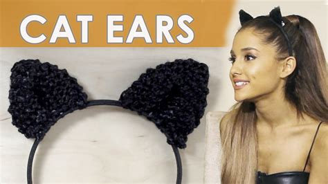 why ariana grande wears cat ears how to knit cat ears like ariana grande wears studio knit