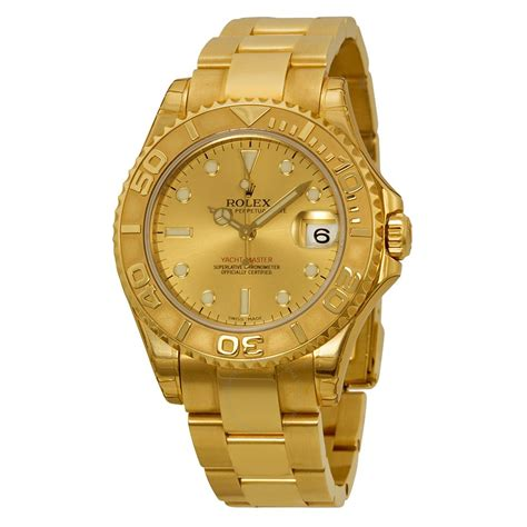 golden rolex rolex yacht master automatic gold 18kt yellow gold