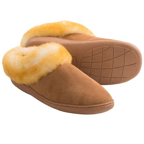 shearling house shoes clarks double faced shearling slippers for women save 58