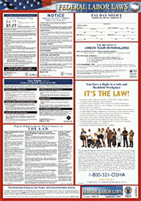 printable federal labor laws poster guam labor law poster federal osha