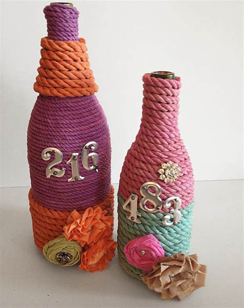Handmade Handicrafts From Waste Materials - 7 craft ideas using waste wine and other glass bottles