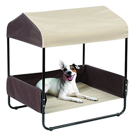 outdoor pet bed 26 quot indoor outdoor pet bed with canopy furniture furniture