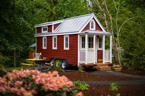 tumbleweed homes scarlett tiny house at mt hood tiny house village