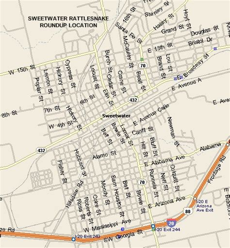 sweetwater texas map sweetwater rattlesnake roundup map