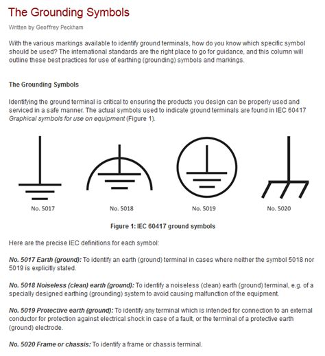 schematics use of ground symbols in circuit diagrams