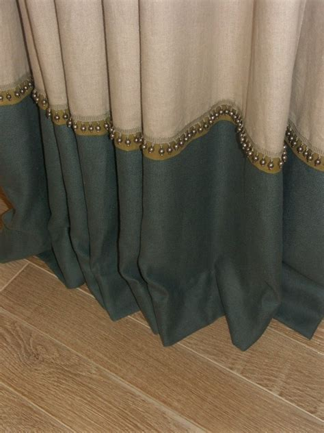 banded drapes banded drapes and trim detail bedrooms pinterest