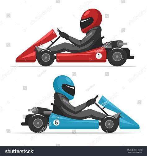 Go Car Racing Karting Go Racing On Sport Kart Stock Vector 404175310