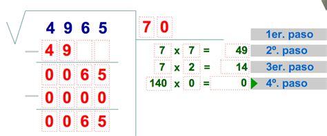 calculador de raices cuadradas pon una tic en tu aula ra 237 ces cuadradas