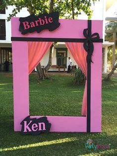 barbie photo booth layout printable large photo frame prop diy printable photo