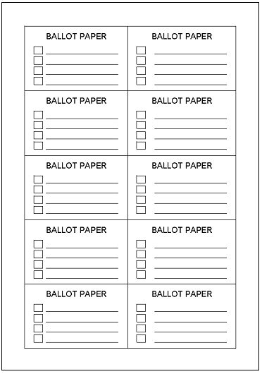 Contest Ballot Template Dtk Templates Entry Ballot Template