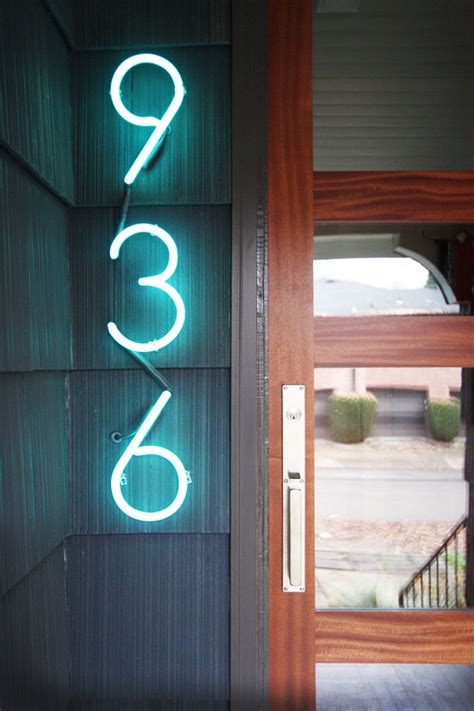 bright house number 10 modern house number ideas to dress up your home contemporist