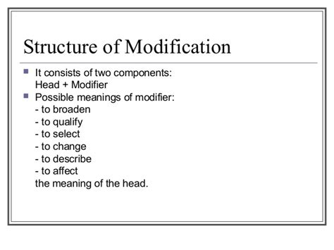 Structure Of Modification Adjective As by Meeting 4 Structure Of Modification2