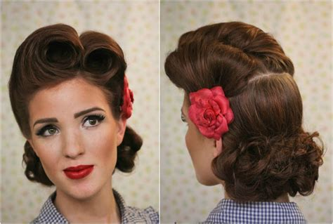 pin up hairstyle tutorial rockabilly hairstyles for step by step