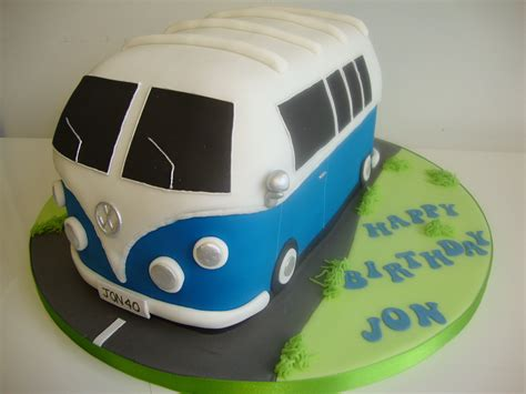 Christmas Decorating Ideas by 3d Campervan Cake Blue Celebration Cakes Cakeology