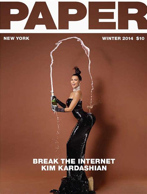 Kim Kardashian Paper Magazine Cover Winter
