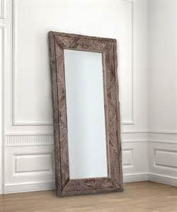deer valley floor mirror gray finish transitional floor mirrors by bliss home design