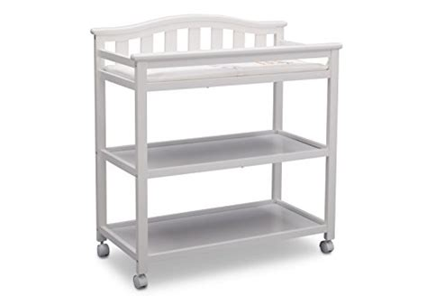 Cheap White Changing Table Delta Children 540242 130 Delta Children Bell Top Changing Table With Casters White For Sale