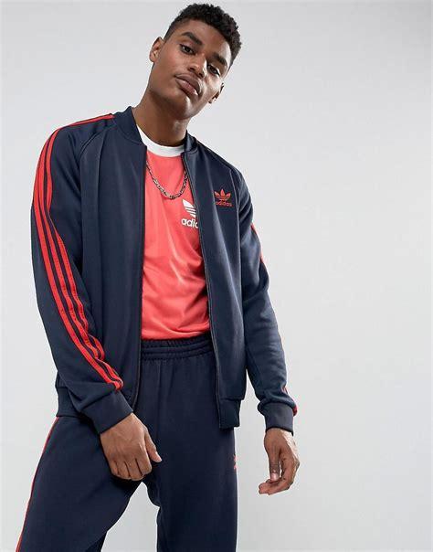 Fero Adidas Navy Jaket Sweater lyst adidas originals superstar track jacket in navy bs2659 in blue for