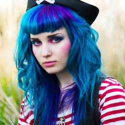 blue colored hair blue hair with purple accents forums haircrazy