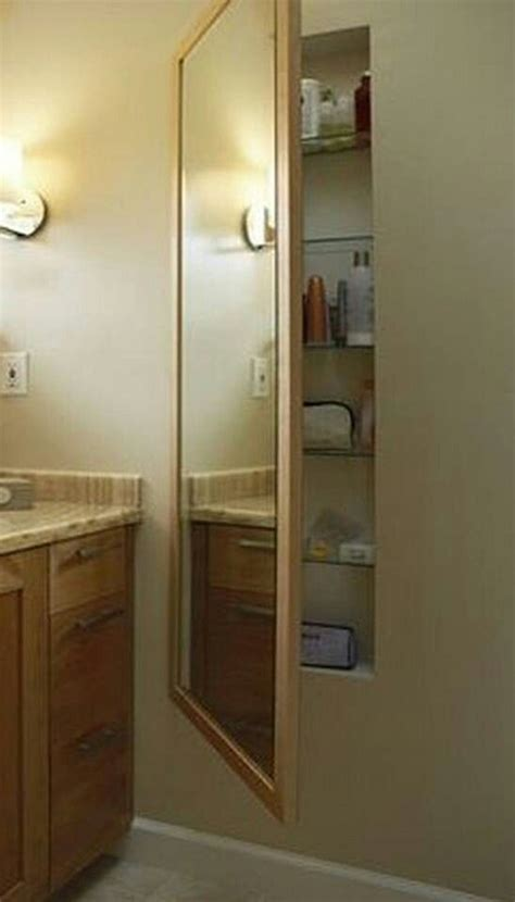 glasscrafters full length mirrored medicine cabinet use space between studs for storage bath pinterest